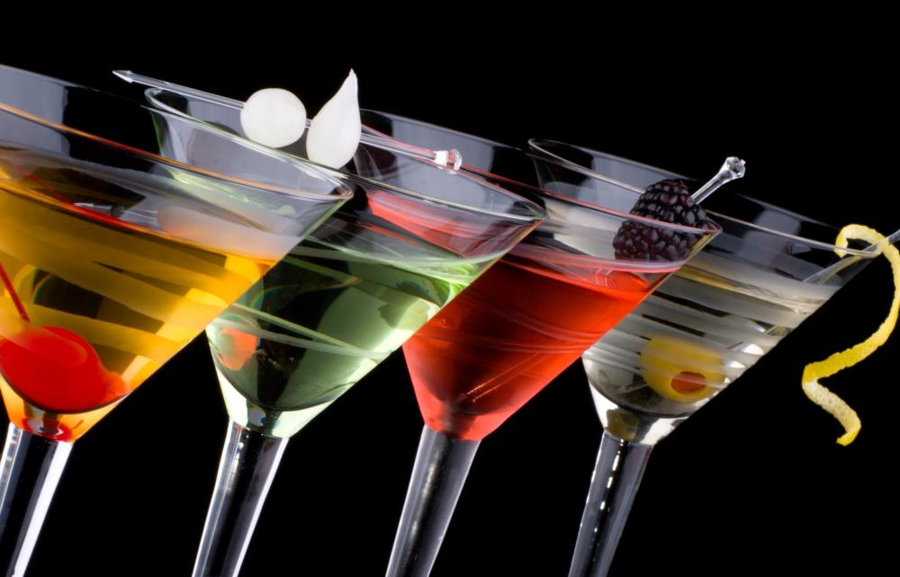 There are hundreds of variations of martinis.