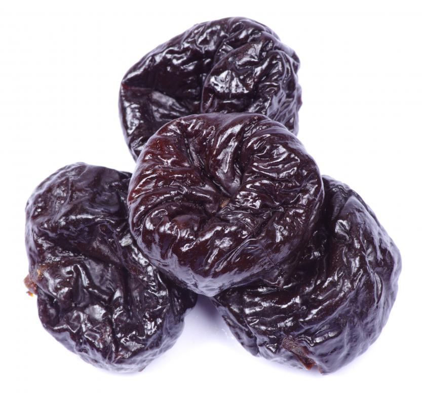 Prunes are dried plums.