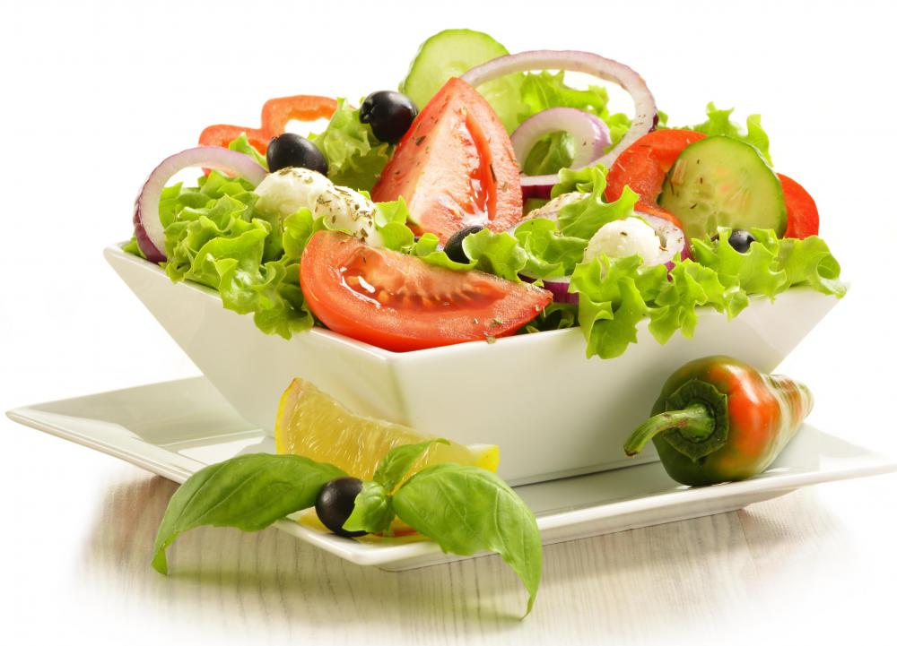 Black olives may be used in salads.