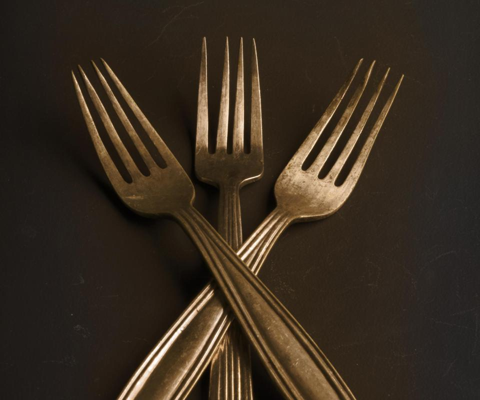 Antique gold cutlery may be problematic for use due to the soft nature of the gold.