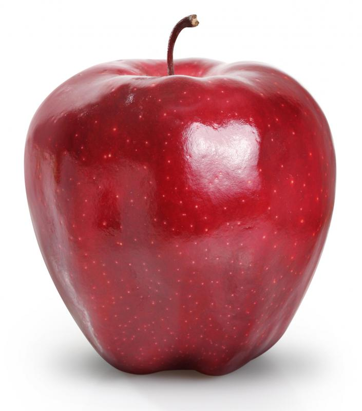 Red Delicious apples are sweet and popular for eating.