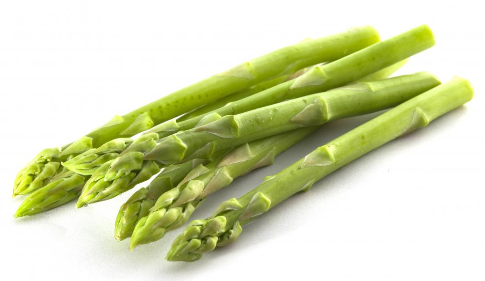 Asparagus is a popular topping on angel hair pasta.