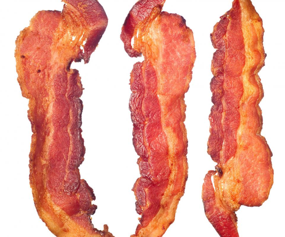 Bacon, along with other types of meat, is considered a savory food.