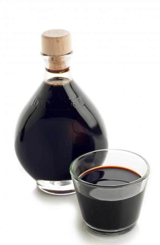 Balsamic vinegar often has a dark color.