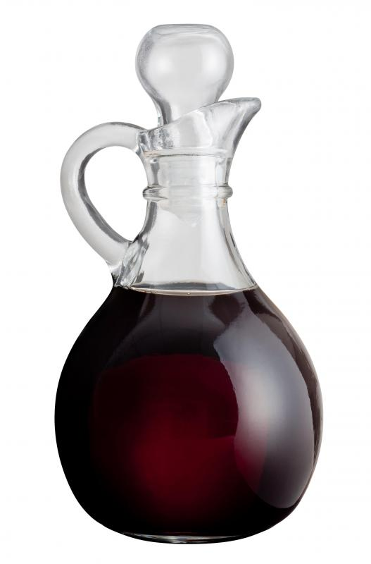 Balsamic vinegar, which is often used to make reductions.