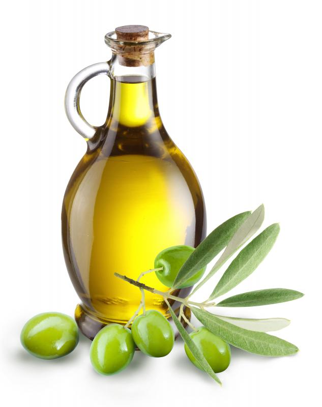 Bread can be dipped into olive oil.