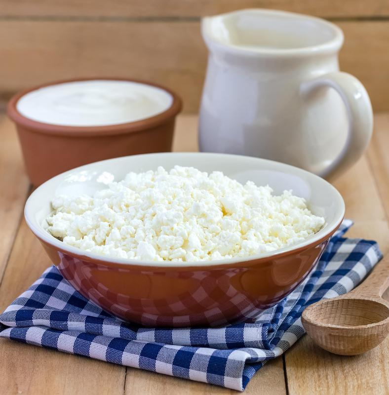 Cottage cheese is rich in calcium, but also tends to be high in sodium.