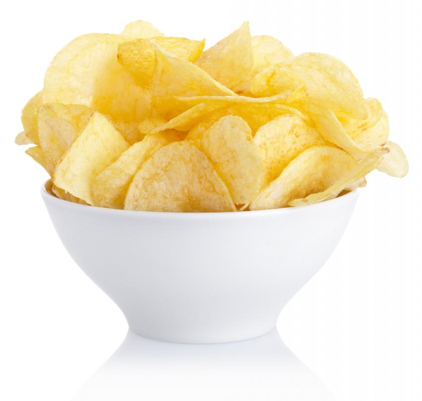 Potato chips made with Idaho potatoes.