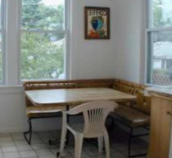An eat-in kitchen may feature a breakfast nook.