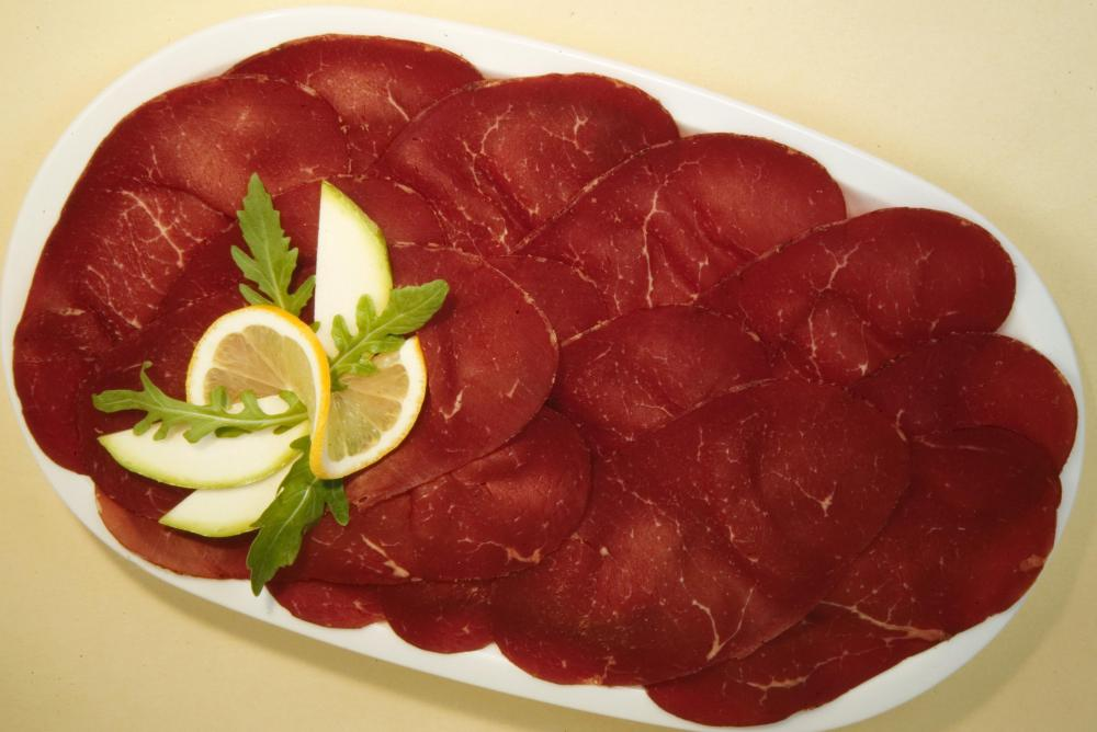 Bresaola is an Italian meat that can be served as lunch meat.