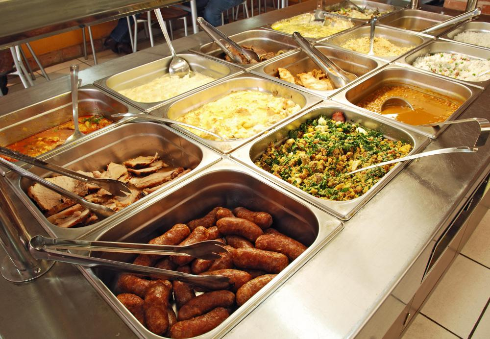 Food safety specialists inspect buffets to make sure food is not being left out long enough to spoil.