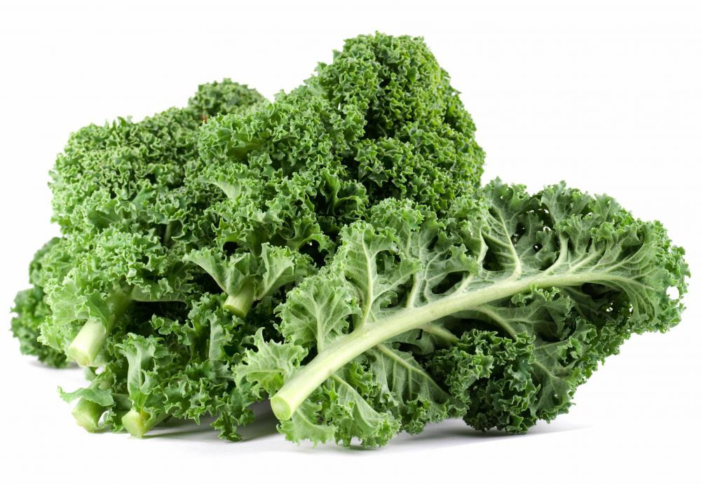Kale, a type of roughage.