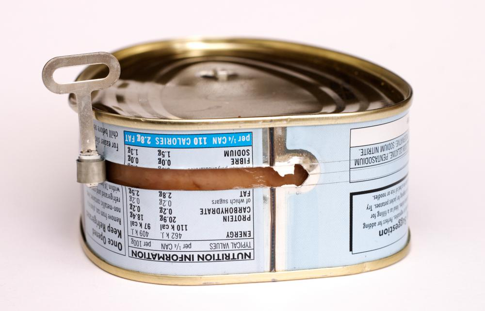 Read labels to determine the actual amount of ham in a canned product.