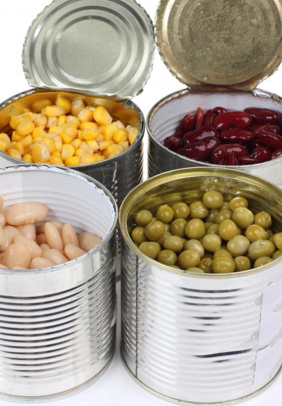 Canned goods should be inspected to make sure they were properly sealed before eating contents.