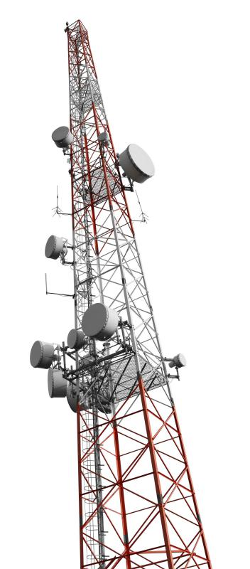 Microwave transmissions from cell towers are typically on the order of 300 watts.