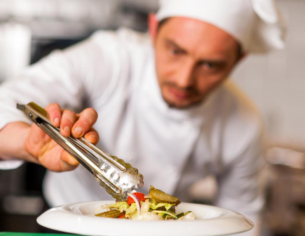 A head chef may create a customized menu and signature dishes based on his area of culinary expertise.