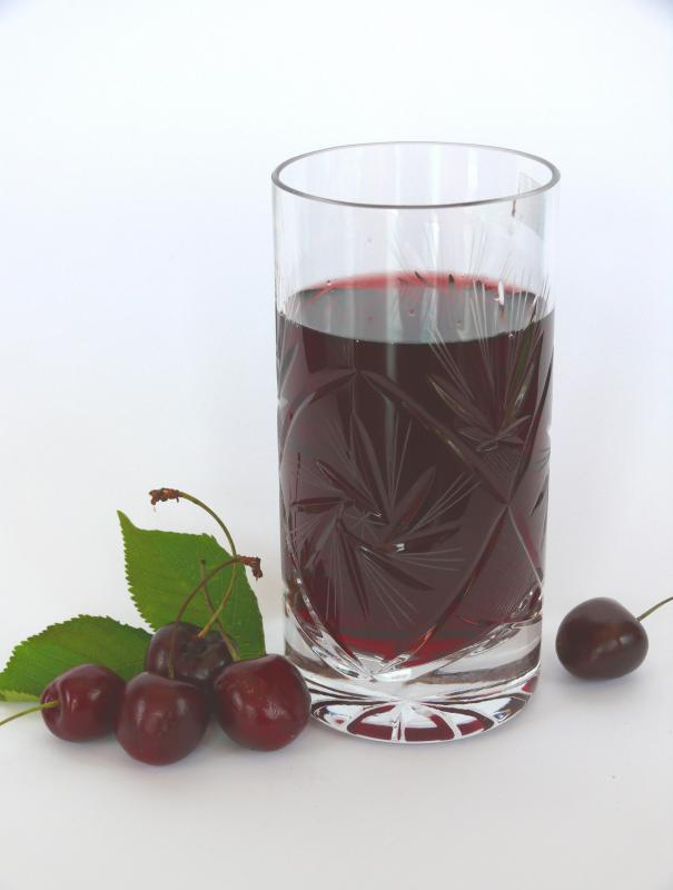 Cherry juice is sometimes added to Grenadine for flavoring.