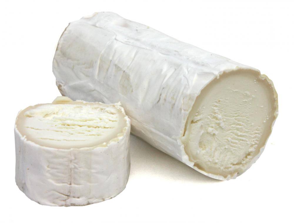 Sliced goat cheese.