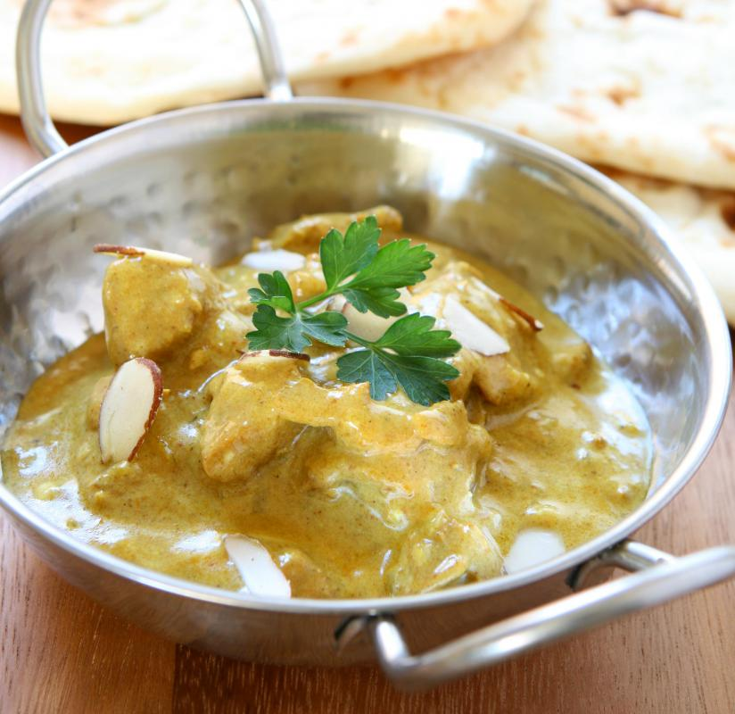 Chicken korma is a popular Indian curry.