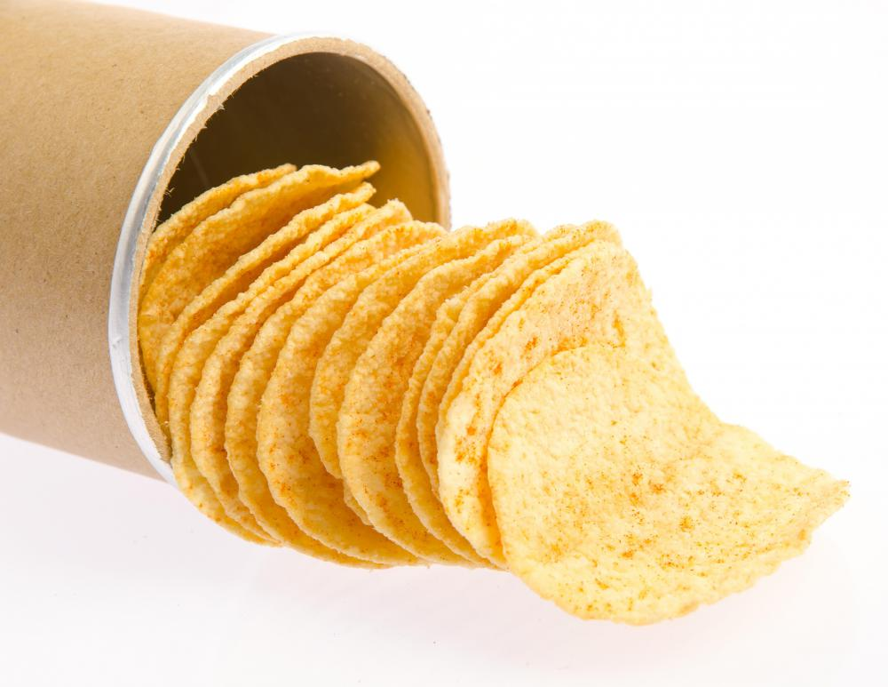 Corn bran may be used in chips.