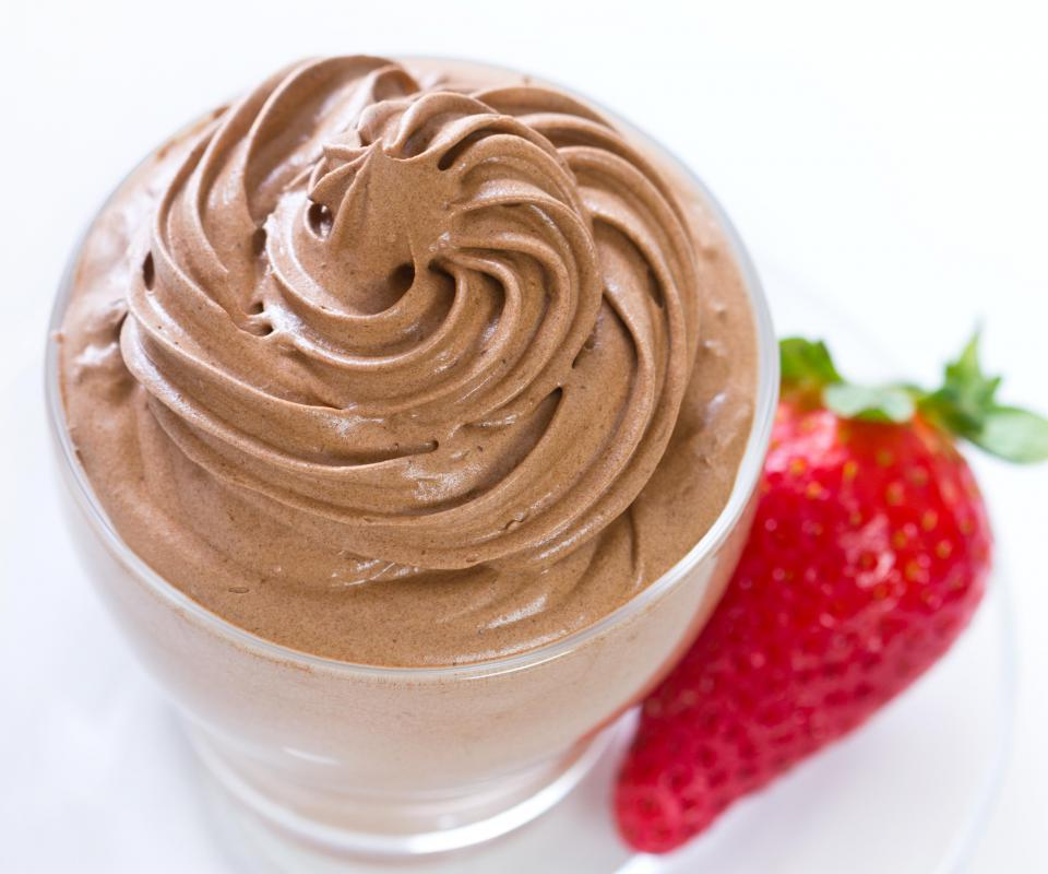 Chocolate liquor may be used in the creation of a mousse.