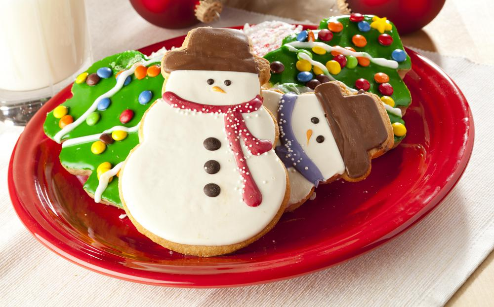 Holiday cookies are a favorite traditional Christmas food.