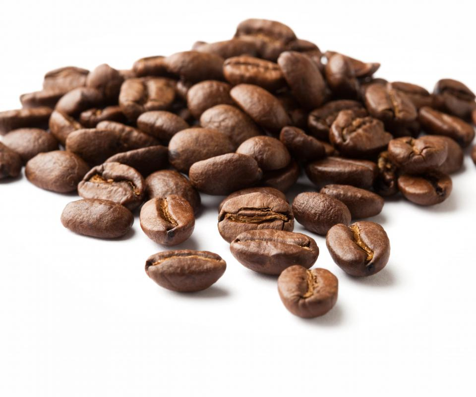 Unground coffee beans.