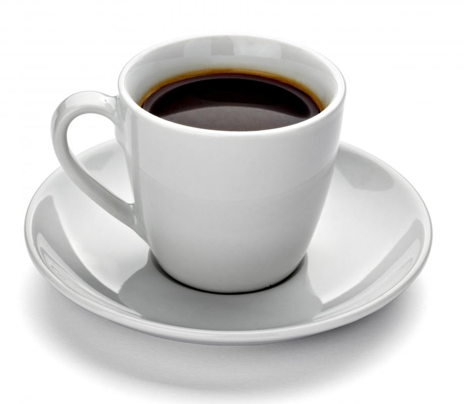 Coffee, which is served towards the end of a meal.