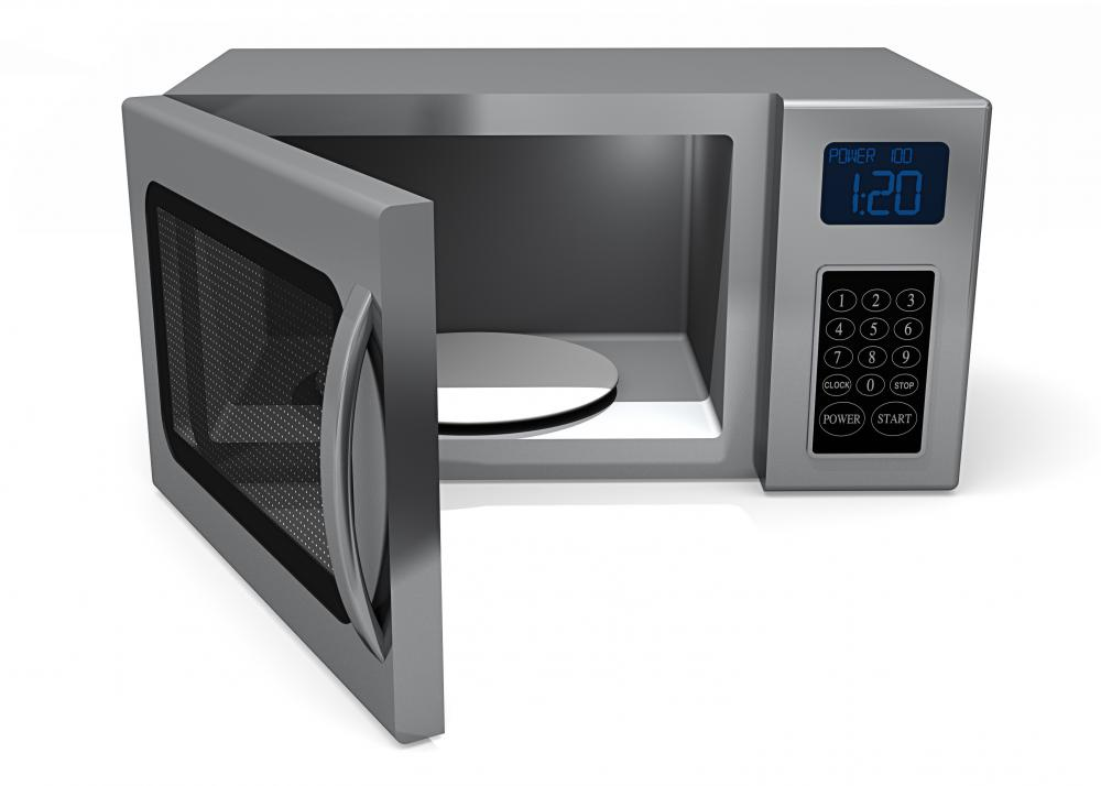 A microwave oven.