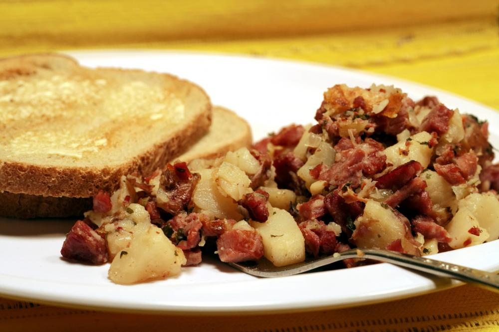 Corned beef may be combined with potatoes to create hash.