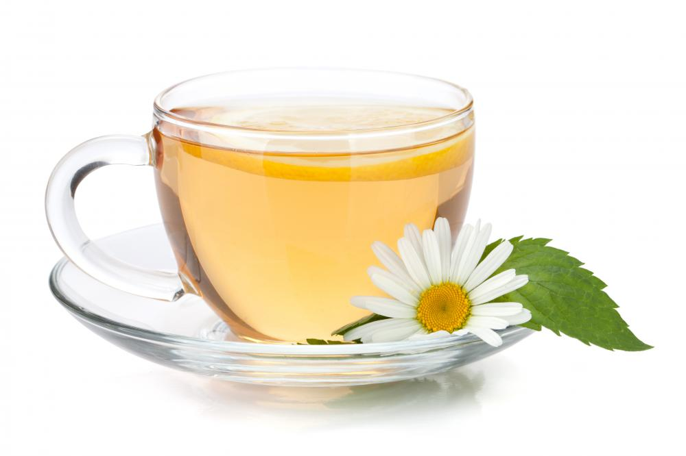 Chamomile is an herb that is often used to make tea.
