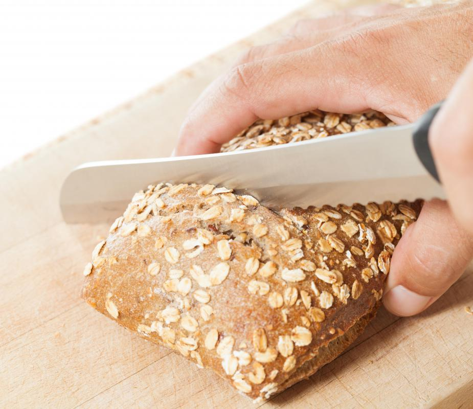 A cake knife should be serrated, much like a bread knife.