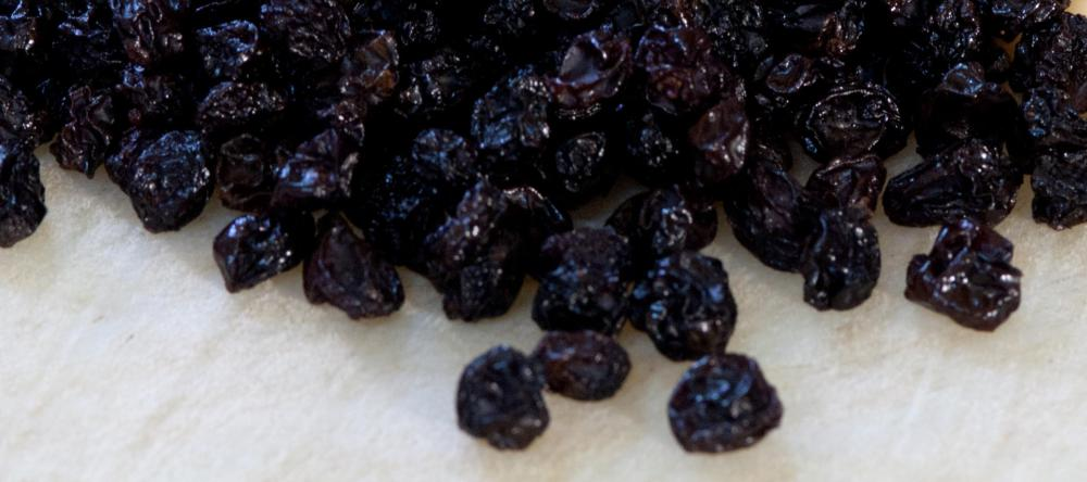 Dried currants are used in many baked goods.