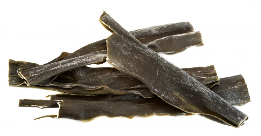 Kombu, a seaweed that contains iodine, can be a source of iodine for those who don't use iodized salt.