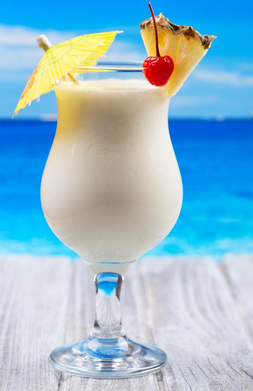 Rum is used in many tropical mixed drinks.