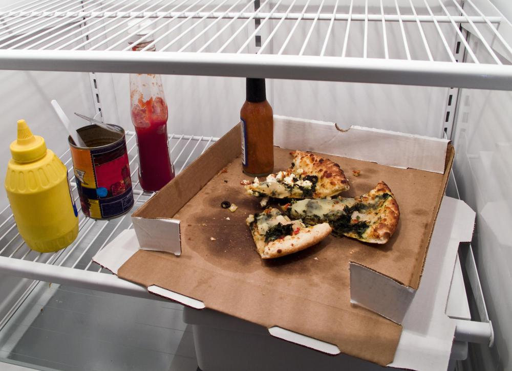 Cooked food should be kept in sealed containers, not sitting open in the refrigerator.