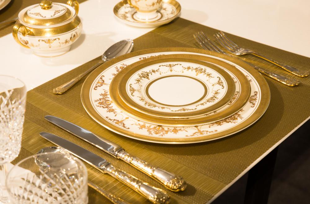 Golden cutlery is not the most practical due to how easily it can be damaged and is usually reserved for special occasions.
