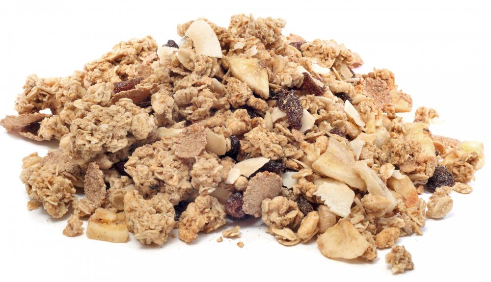 Whole grain oats can be used to make homemade granola cereals.