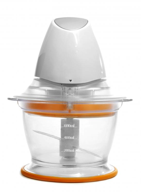A food processor, which can be used to make baby food.
