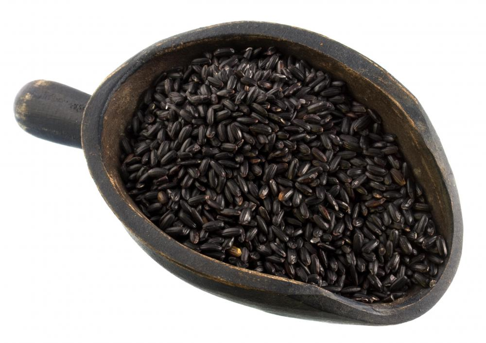 Black rice vinegar is traditionally made with black glutinous rice.