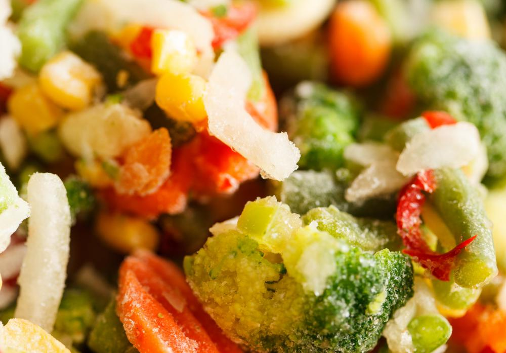 Frozen vegetables can have more minerals and vitamins than fresh vegetables from a grocery store.