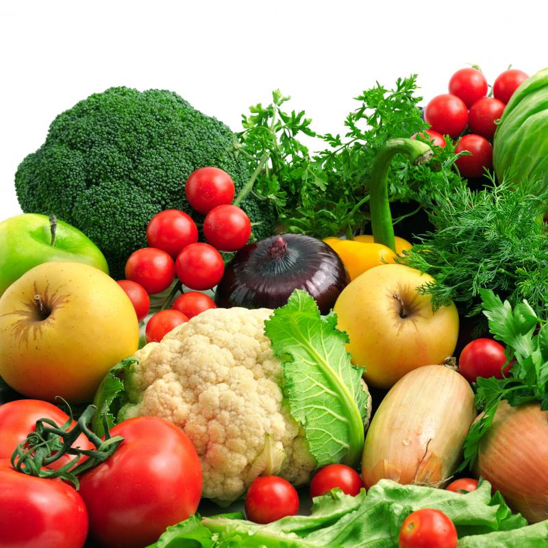 Fruits and vegetables are excellent sources of roughage.