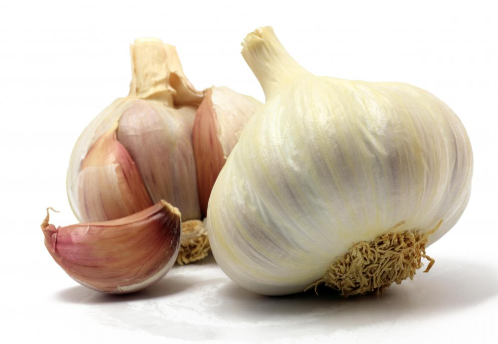 Garlic may be used to season balsamic vinegar.