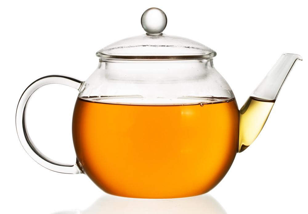 Tea is often steeped in a teapot.