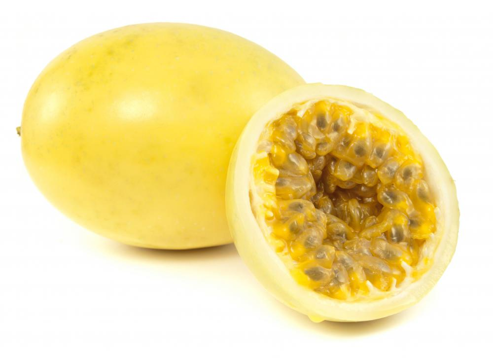 Golden passion fruit.