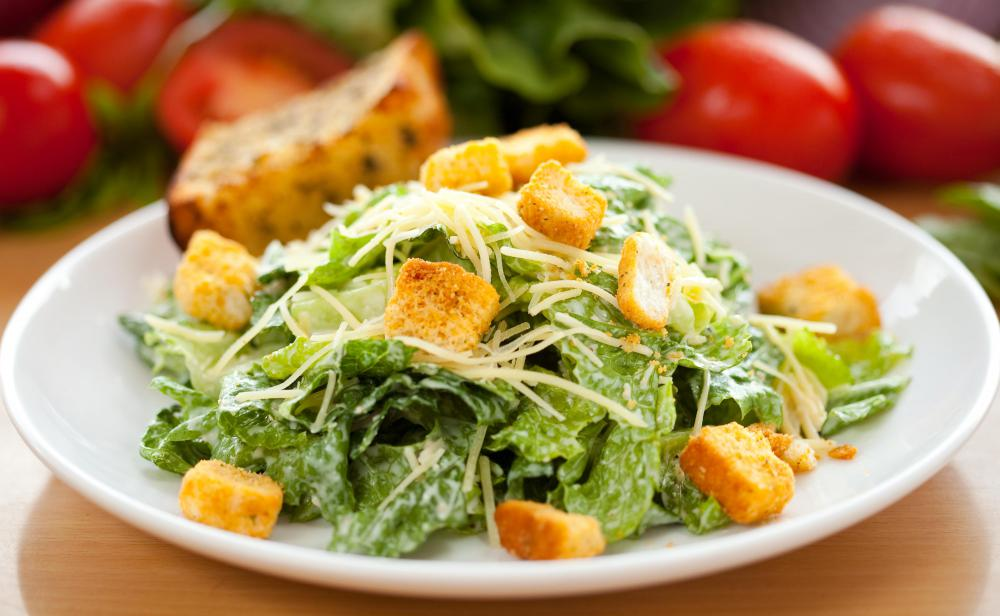 Cos or Romaine lettuce is often used as the base for Caesar salad.