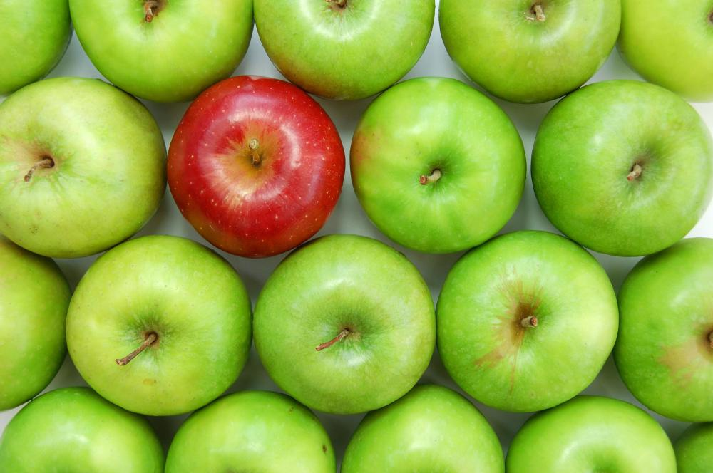 Fructose is found in many fruits, such as apples.