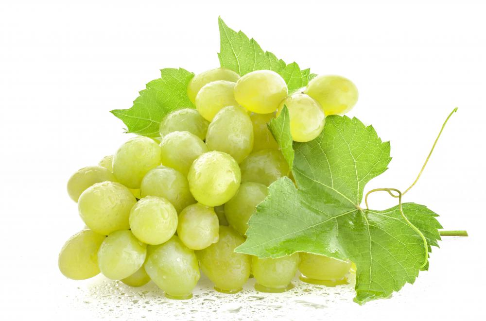 Grapes add fiber to a fruit salad.