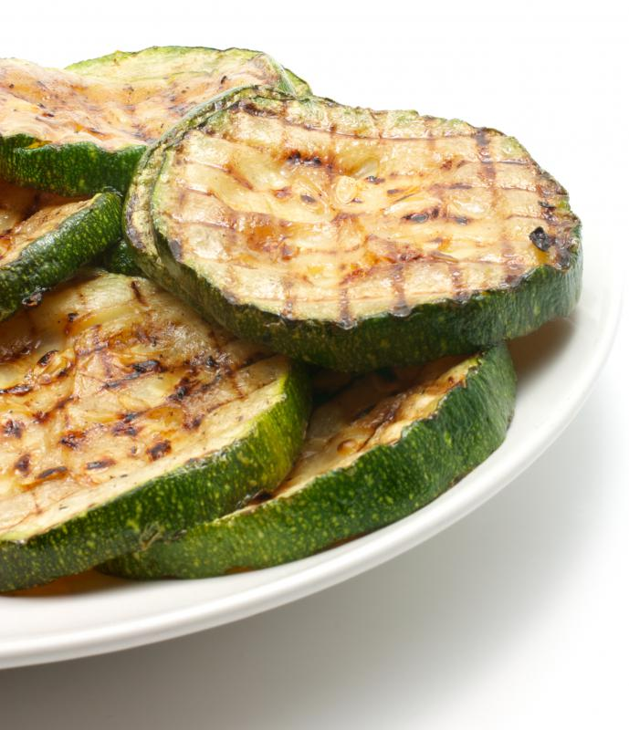 Grilled zucchini, which is often included in panini.