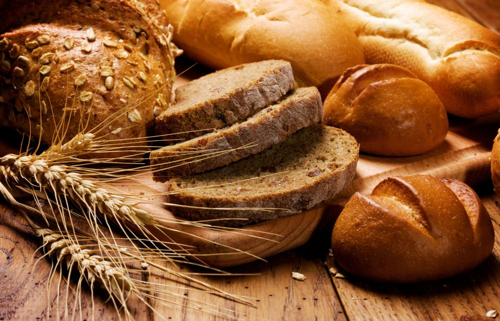Whole grain breads are a source of dietary fiber.
